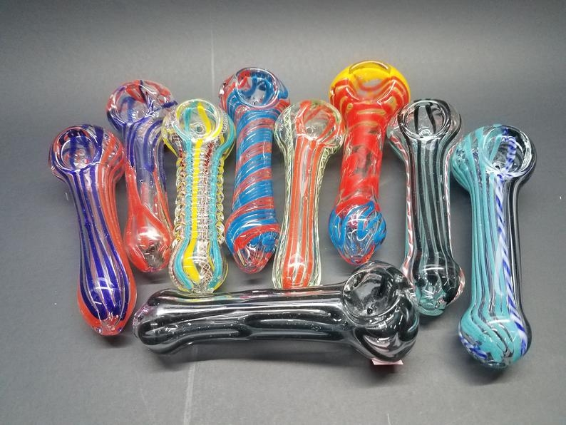 "Glass Straight Pipes 5"" ASSORTED COLORS"