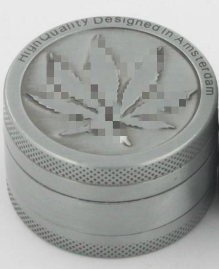 Grinder 3-Piece, Zinc Alloy with Kush Leaf Design