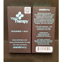Anandahemp Vapor Therapy Broad Spectrum Vape 150mg Cannabinoids THC Free 1/2 Gram Cartridge CUCUMBER + MINT