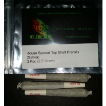 House Special Top Shelf Pre-Rolls 3 PAC 2.5 gram (Sativa)