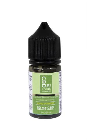 CBD Living Hand Sanitizer 50 mg CBD (1oz / 30ml)